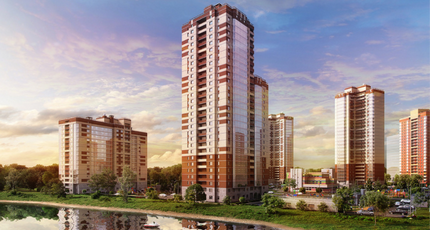 Планировка Двухкомнатная квартира площадью 53.75 кв.м в ЖК «Живи! В Рыбацком»